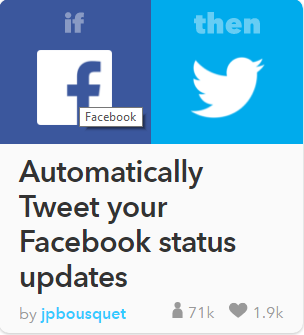 automatically post your facebook status on twitter